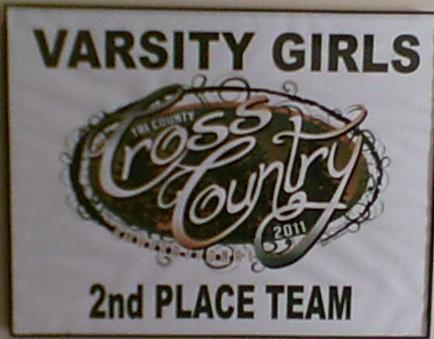 2011 Varsity Girls Cross Country 2nd-place